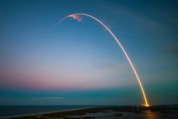 Rocket taking flight